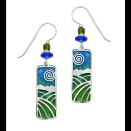 Adajio Earrings Blue Column Landscape