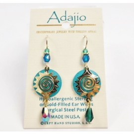 Adajio Earrings Blue Starburst