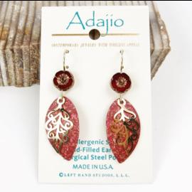Adajio Earrings Feather Leaf