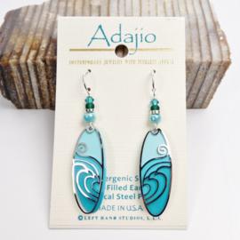 Adajio Earrings Aqua Waves