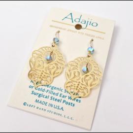 Adajio Earrings Art Deco Dangle