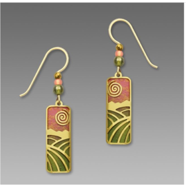 Adajio Earrings Sunset Coral & Olive