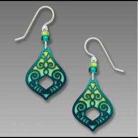 Adajio Earrings Spring Green Aqua