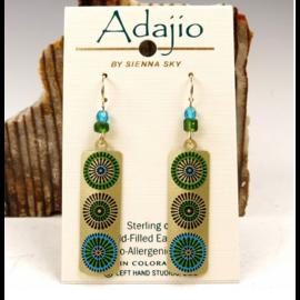 Adajio Earrings Etched Circles Column