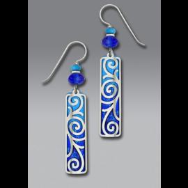Adajio Earrings Blue Cobalt Column