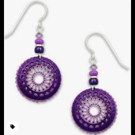Adajio Earrings Violet Filigree Purple Ring