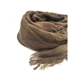 SOFT FEATHER FRINGE SCARF - 2 colors