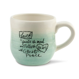 FAITH QUIETS THE MIND MUG