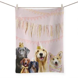 PARTY PUPS TEA TOWEL