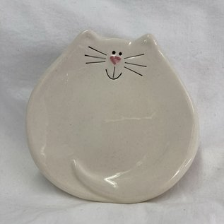 KITTY TRINKET DISH WHITE