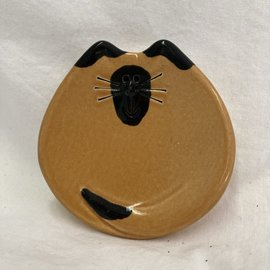 MINI KITTY TRINKET DISH TAN/BLACK