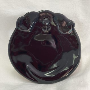 DOGGIE TRINKET DISH BLACK