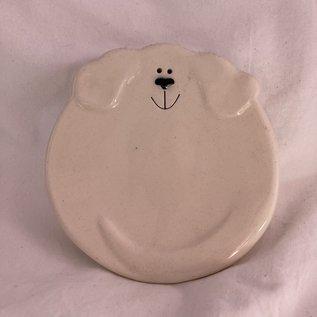 DOGGIE TRINKET DISH WHITE
