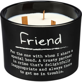 FRIEND  WOODEN WICK SOY CANDLE