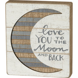 RUSTIC SIGN LOVE YOU TO THE MOON AND BACK