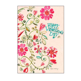 Whimsy Hearts and Flowers Valentine Card