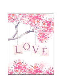 LOVE YOU Tree Valentine Card