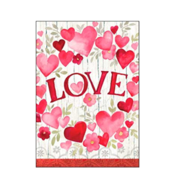 LOVE Hearts Flowers Valentine Card