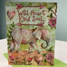 Wild Heart Kind Soul Friend Card