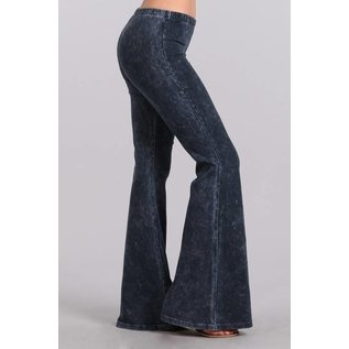 MINERAL WASH BELL BOTTOM - CHARCOAL NAVY