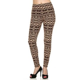 Leggings - Earth Aztec