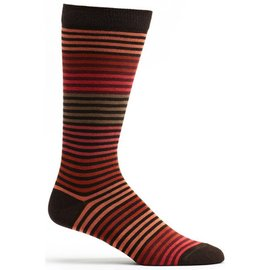OZONE DESIGN MEN'S BLACK/REDS STRIPED SOCKS