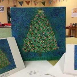 Peace Tree Original Painting by Kate