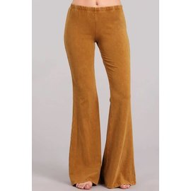 MINERAL WASH BELL BOTTOM - BUTTERSCOTCH