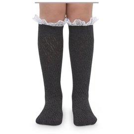 Girls' Lace Top Knee Sock