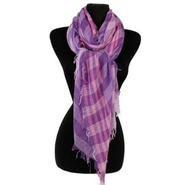 Striped Lightweight Gauze Scarf