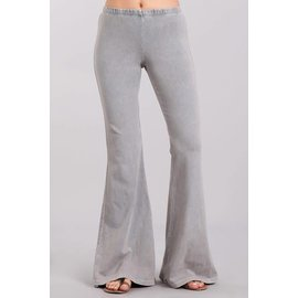 MINERAL WASH BELL BOTTOM - SILVER GREY