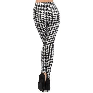 HOUNDSTOOTH ONE SIZE LEGGINGS