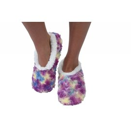 TIE DYE FUZZY SLIPPERS - color choices