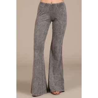 MINERAL WASH BELL BOTTOM -  TAUPE GREY