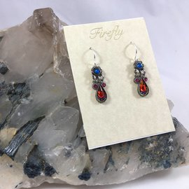 Two Tier Swarovski Crystal Earrings
