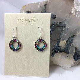 Swarovski Crystal Round Rainbow Earrings