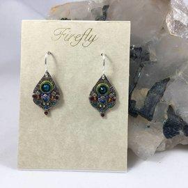 Swarovski Crystal Mosaic Drop Earrings in Teal