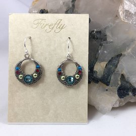 Swarovski Crystal Hoop Earrings in Aquamarine
