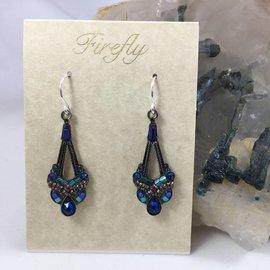 Parisian Swarovski Crystal Earrings in Sapphire