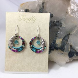 Celestial Moon Earrings in Multi