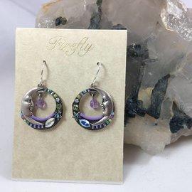 Celestial Moon Earrings in Soft Lavender