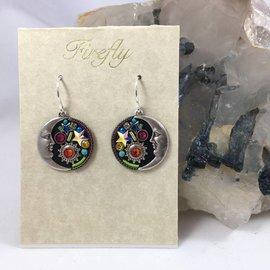 Midnight Moon Earrings in Multi