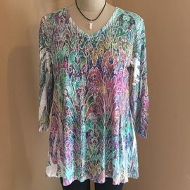 Stained Glass Burnout Tunic