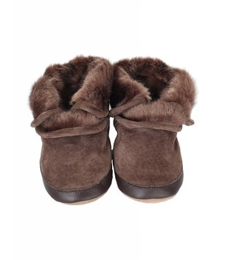 Robeez Cozy Ankle Booties Brown