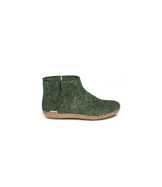 Glerups Kids Boots Leather Sole Forest Green