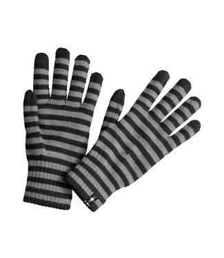 Smartwool Striped Liner Gloves Black