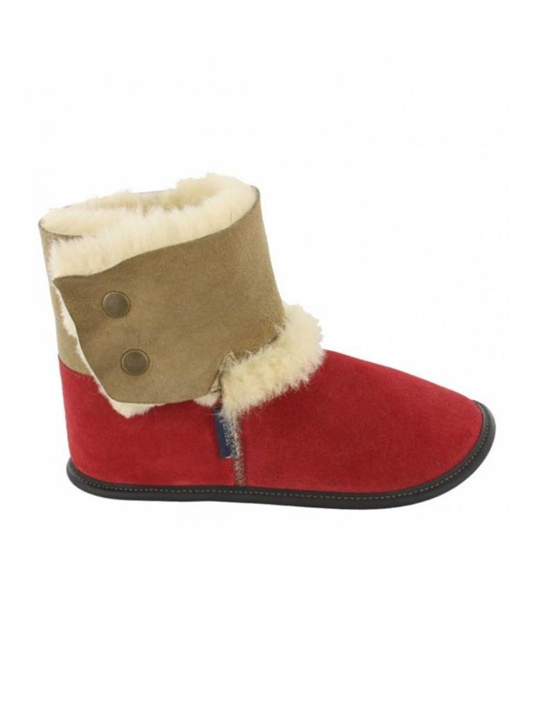 Garneau Garneau Reversed Sheepskin Bootie Red PAF83106111