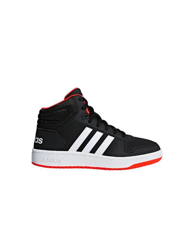 Adidas Adidas Hopps Mid Black & Red RUN1300073