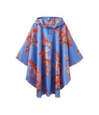 Joules Joules Poncho Packaway Floral Blue