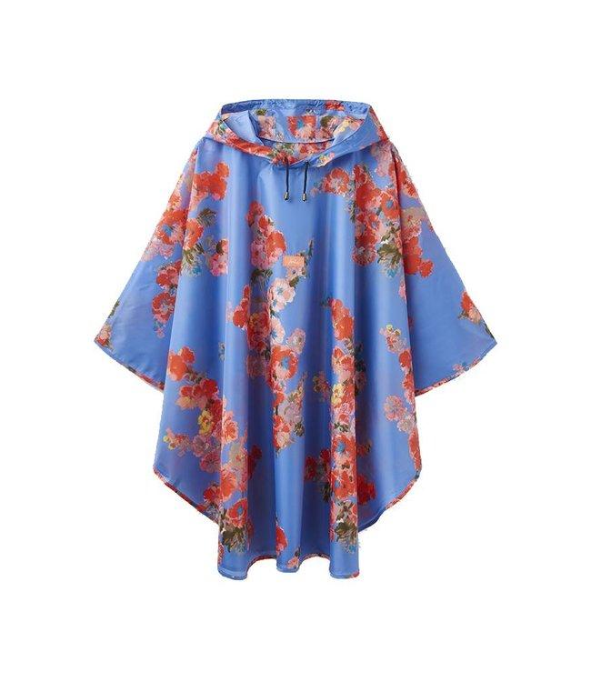JOULES Joules Poncho Packaway Bleu Floral
